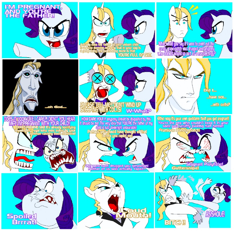 e621 angry argument comic cursing english_text equine female ...