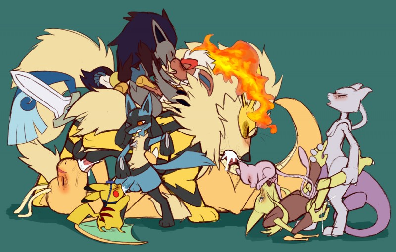e621 69_position alakazam ambre_(nextime) anal anal_penetration arcanine canine claws cum cum_in_ass cum_in_mouth cum_inside dragon dragonite drake_the_dracolosse ejaculation fan_character feline fellatio fur group group_sex hi_res honedge infernape kissing legendary_pokémon lucario male male/male mammal mew mewtwo nintendo noire_the_zoroark oral penetration penis pikachu pokémon pokémon_(species) primate rodent seth_(nextime) sex simple_background size_difference skyevixensartwork tail_sex tailjob the_exceeders_force video_games watt_the_pikachu wheelbarrow_position zener zoroark