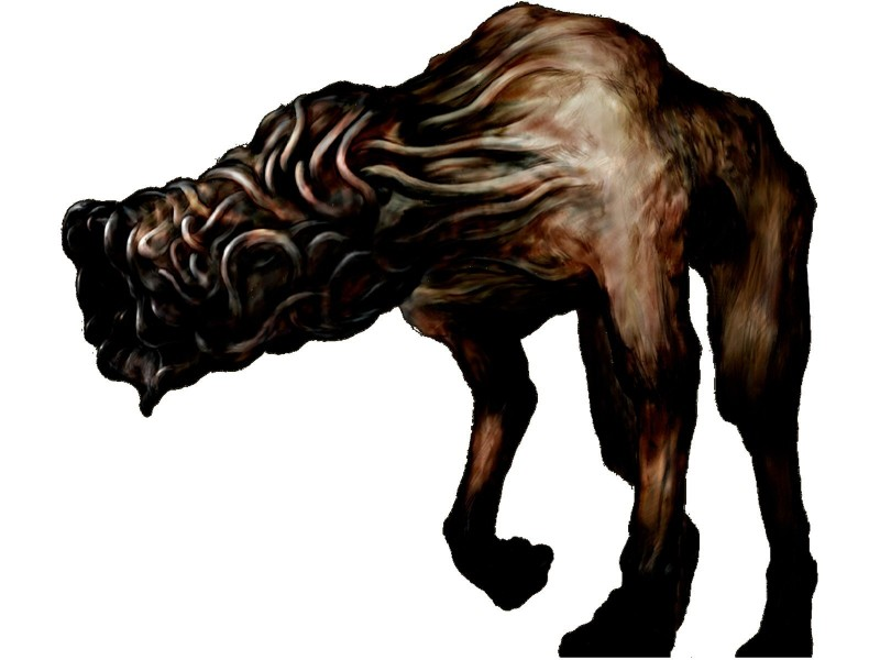 e621 ambiguous_gender anorexia brown_skin canine digital_media_(artwork) digitigrade eyeless faceless feral front_view full-length_portrait hi_res hybrid konami mammal monster nude official_art portrait quadruped raised_leg silent_hill simple_background snout solo standing undead unknown_artist video_games white_background worm wormhead_(silent_hill)