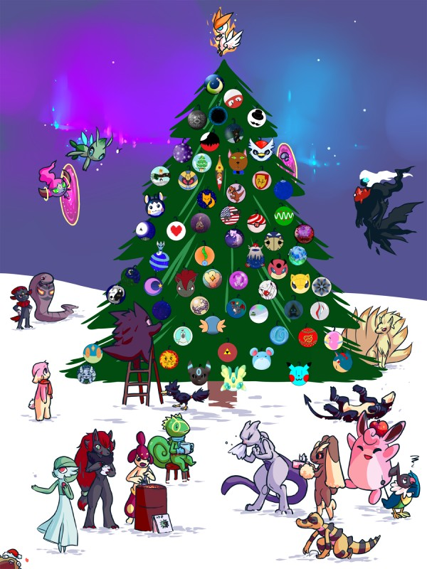 e621 <3 absolutely_everyone ambiguous_gender anthro arbok audino avian bird black_fur canid canine celebi charizard chatot chatot_(eotds) christmas cofagrigus corvid countryball crocodilian darkrai delibird dragonair eeveelution emolga fairy felid female fur gardevoir gengar genie ghost group guildmaster_wigglytuff gun hair hi_res holidays hoopa hoopa_(confined) houndoom humanoid jen_(vf) kecleon krokorok ladder lady_weavile lagomorph legendary_duo legendary_pokémon lopunny lurantis luvdisc male mammal marill medicham mew mew_duo mewtwo moon mudkip murkrow mustelid ninetales nintendo n_(pokémon) ornament pokémon pokémon_mystery_dungeon pokémon_(species) pokémon_victory_fire quilava ranged_weapon red_hair reptile sandshrew scalie scarf shiny_pokémon snake sneezing snorunt snow spirit star stunfisk sulfurbunny_(artist) team_awd team_charm tree umbreon victini video_games voltorb wartortle weapon weavile wes_(pokémon) wigglytuff zoroark