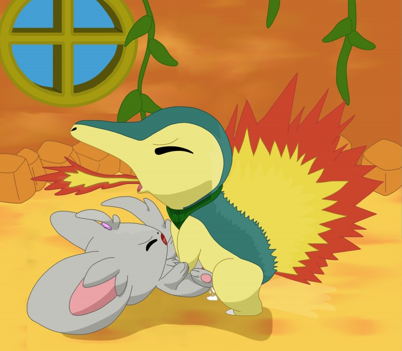 e621 ambiguous_penetration cum cum_inside cyndaquil duo eyes_closed female feral feral_on_feral fire fire_breathing flat_colors gau_(artist) hi_res inside interspecies lying male male/female male_penetrating minccino missionary_position nintendo on_back open_mouth orgasm orgasm_face penetration penis pokémon pokémon_(species) pokémon_mystery_dungeon sex video_games
