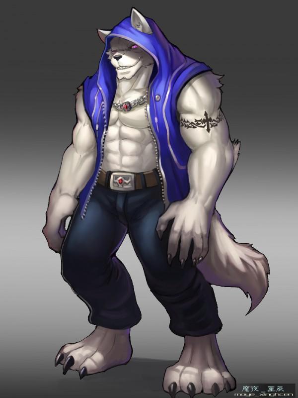 Anthro Arctic Wolf #660036: 魔夜星辰 ...