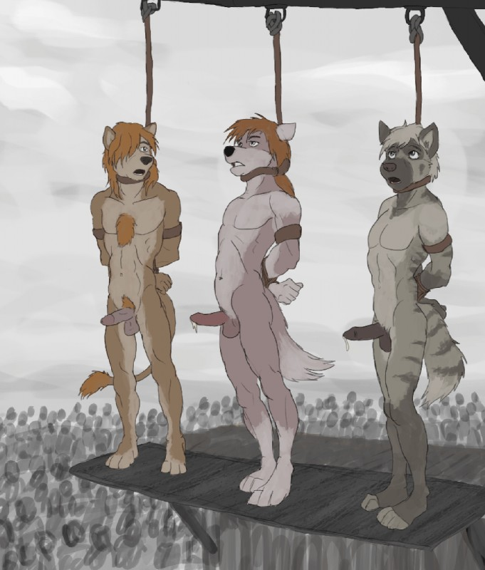 Boys executed hanged noose nude