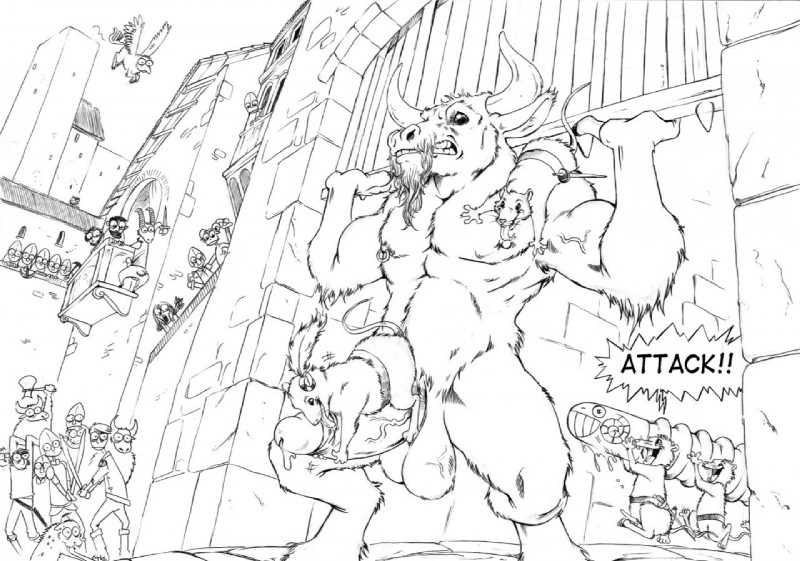 Gay Furry Minotaur Porn Comic - e621 anthro attack balls battering_ram big_balls black_and_white bovine  caprine cattle chronicles_of_narnia dildo erection feathers furryrevolution  goat