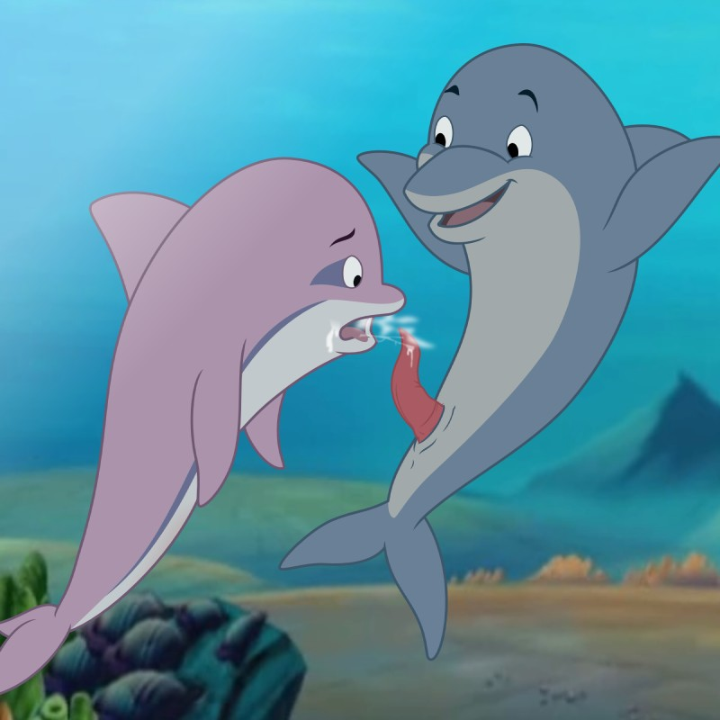 Oral sex on a dolphine