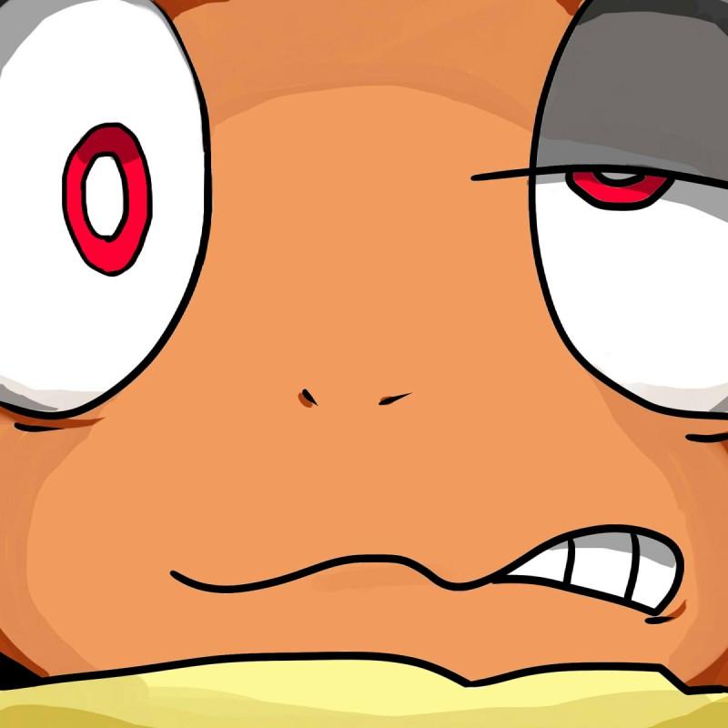 e621 2016 ambiguous_gender close-up headshot_portrait hi_res looking_at_viewer nintendo nishikunsp orgasm_face pokémon pokémon_(species) portrait scrafty solo video_games