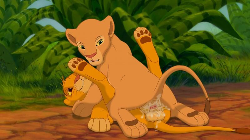 E621 169 Cub Cum Cum_in_pussy Cum_inside Disney Duo Erection Feline Female Feral Hi_res Lion